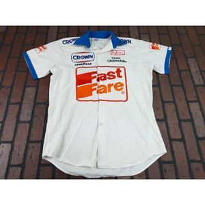 Fast Fare Oldsmobile Racing Button Front Shirt 90s